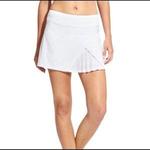 ATHLETA White Sneaky Pleated Skirt Skort